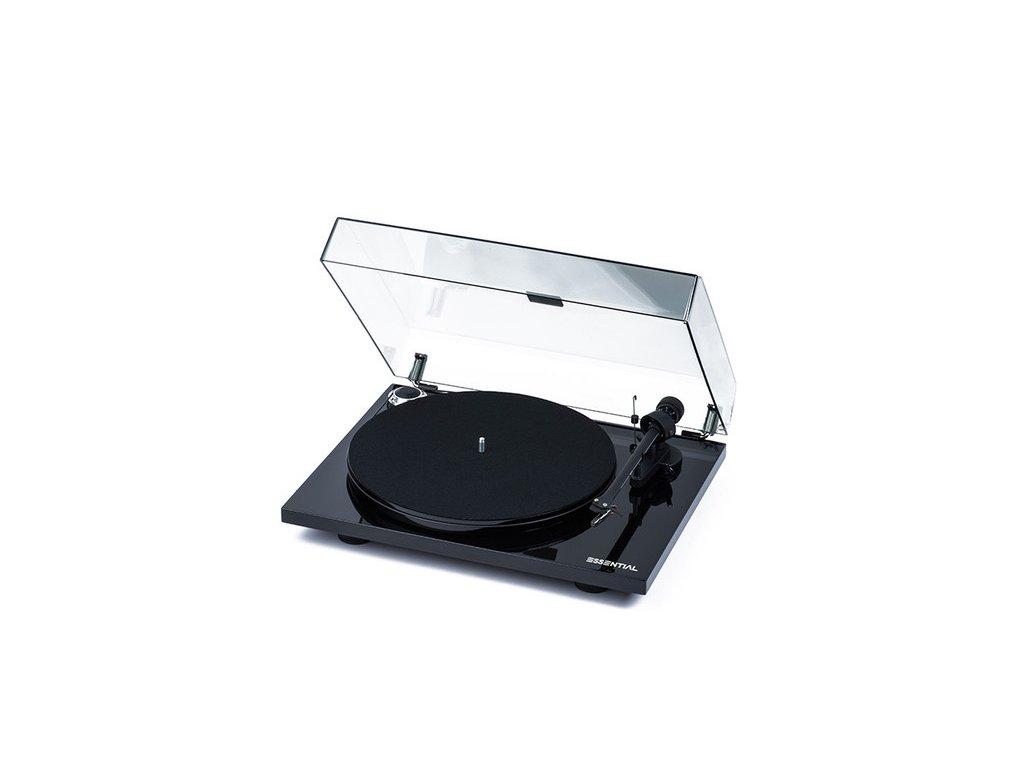 Kvalitní řemínkový gramofon s odolným MDF talířem PRO-JECT ESSENTIAL III + OM10
