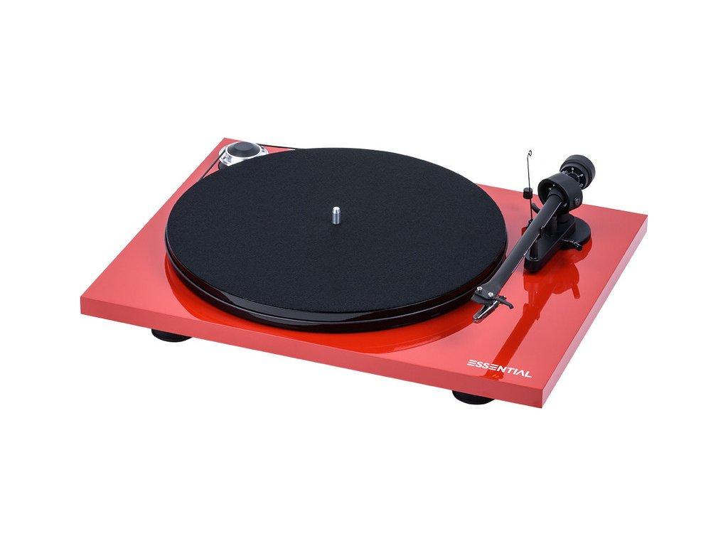 Kvalitní gramofon s tichým motorem, MDFtalířem a MM předzesilovačem PRO-JECT ESSENTIAL III DIGITAL + OM10