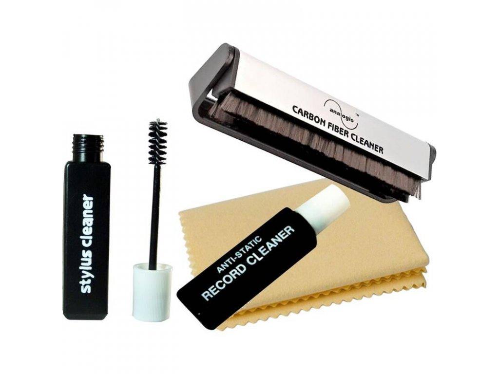 Kvalitní kompletní čistící set pro gramofon a LP desky VINYL CARE PRO 6080