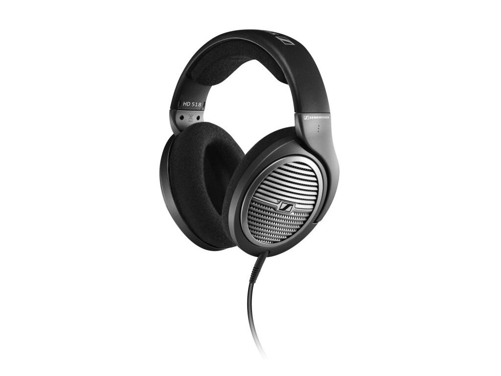Kvalitní otevřená dynamická high-endová sluchátka Sennheiser HD 518