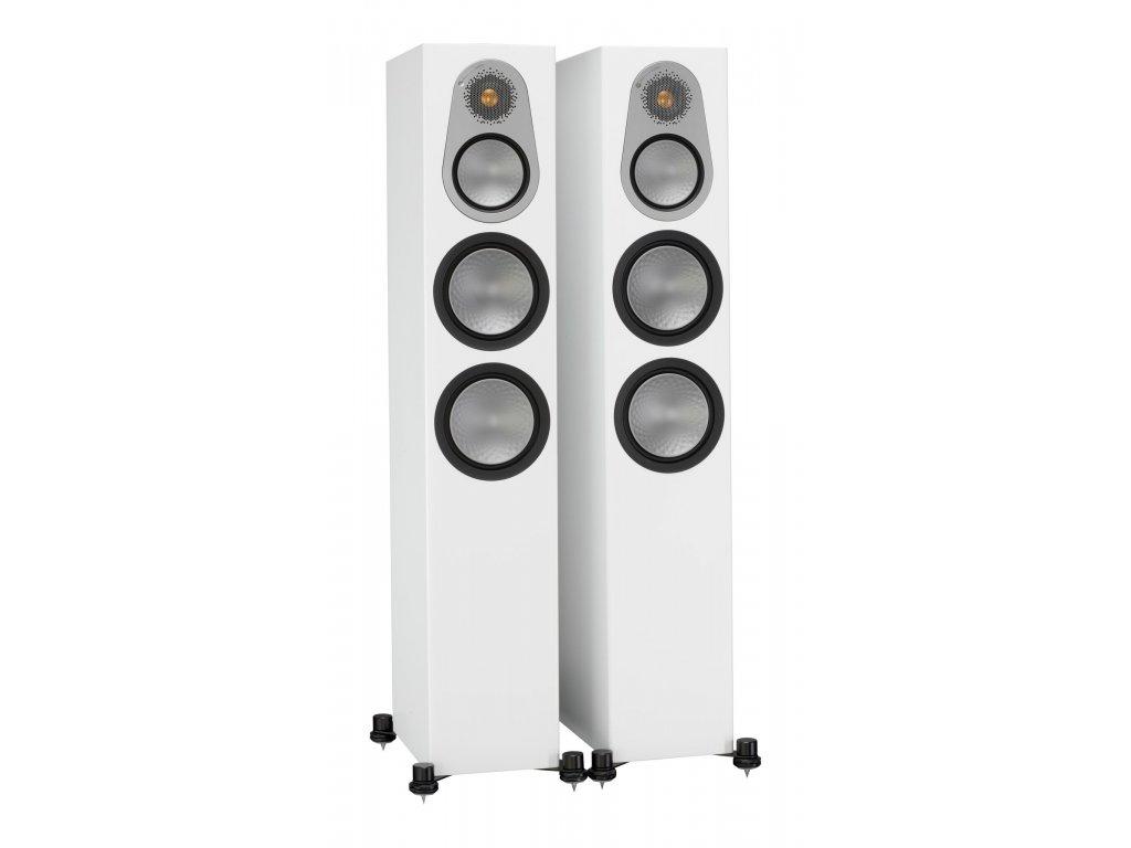 Kvalitní 3-pásmová sloupová podlahová reprosoustava se zadním bassreflexem Monitor Audio Silver 300