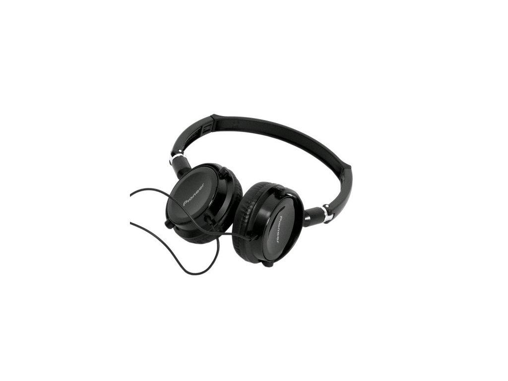 Kvalitní stereofonní drátová uzavřená sluchátka Pioneer SE-MJ511-K