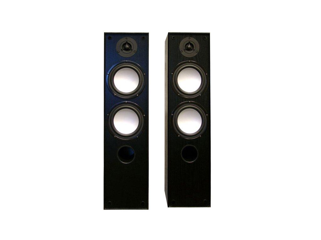 Kvalitní sloupová reprosoustava se zdvojenou basovou sekcí Acoustique Quality Tango 88 v černé barvě | video - hifi - studio | cinemashop.cz