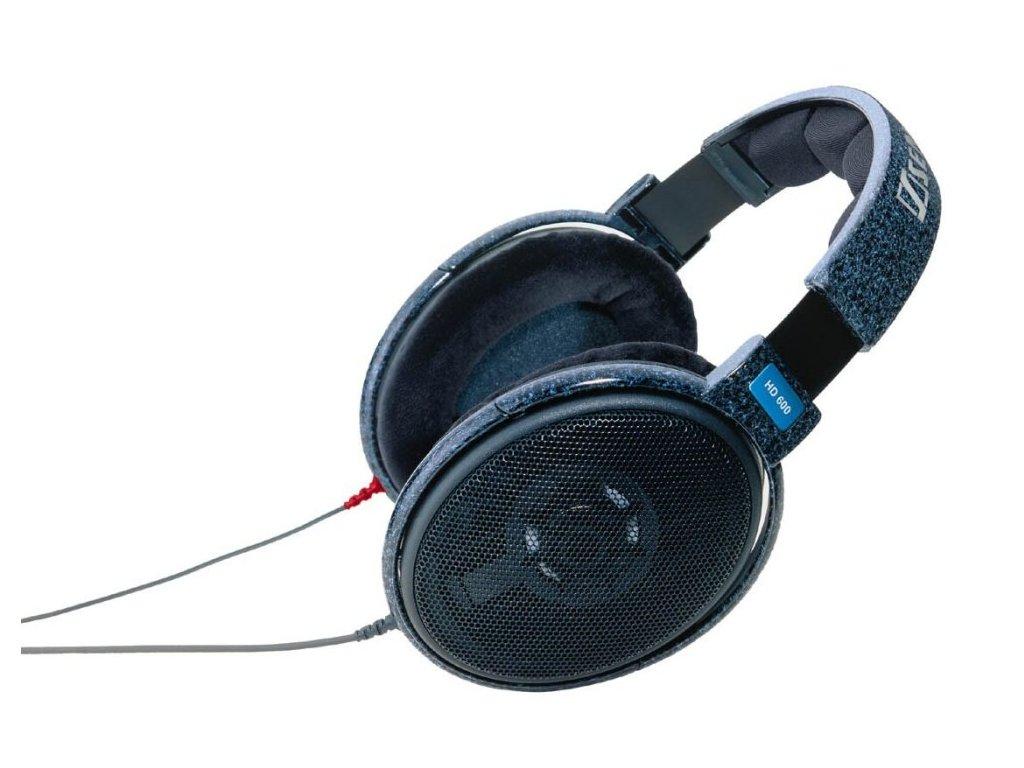 Kvalitní high-endová otevřená dynamická stereo sluchátka Sennheiser HD 600