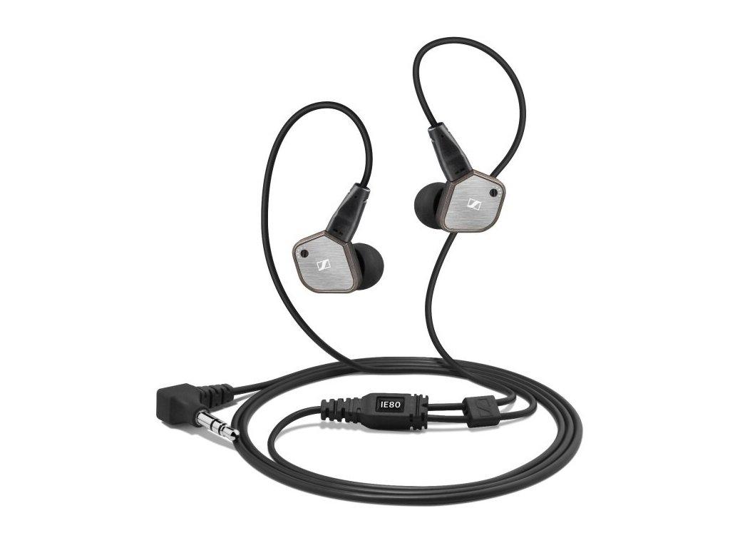 Kvalitní high-endové sluchátka do uší se zvýšenou mechanickou odolností Sennheiser IE 80