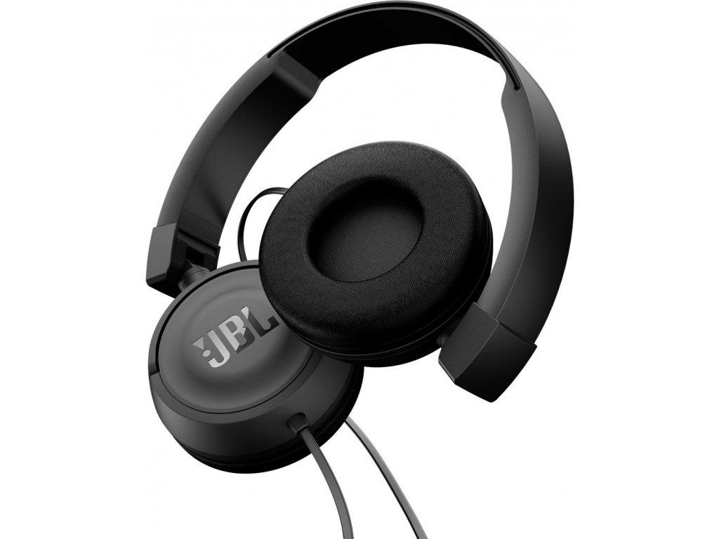 Kvalitní uzavřená dynamická sklopná sluchátka on-ear JBL T450