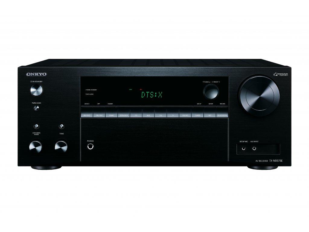Kvalitní 7.2 kanálový receiver s dynamickým prostorovým zvukem při až 135 W na kanál Onkyo TX-NR575E