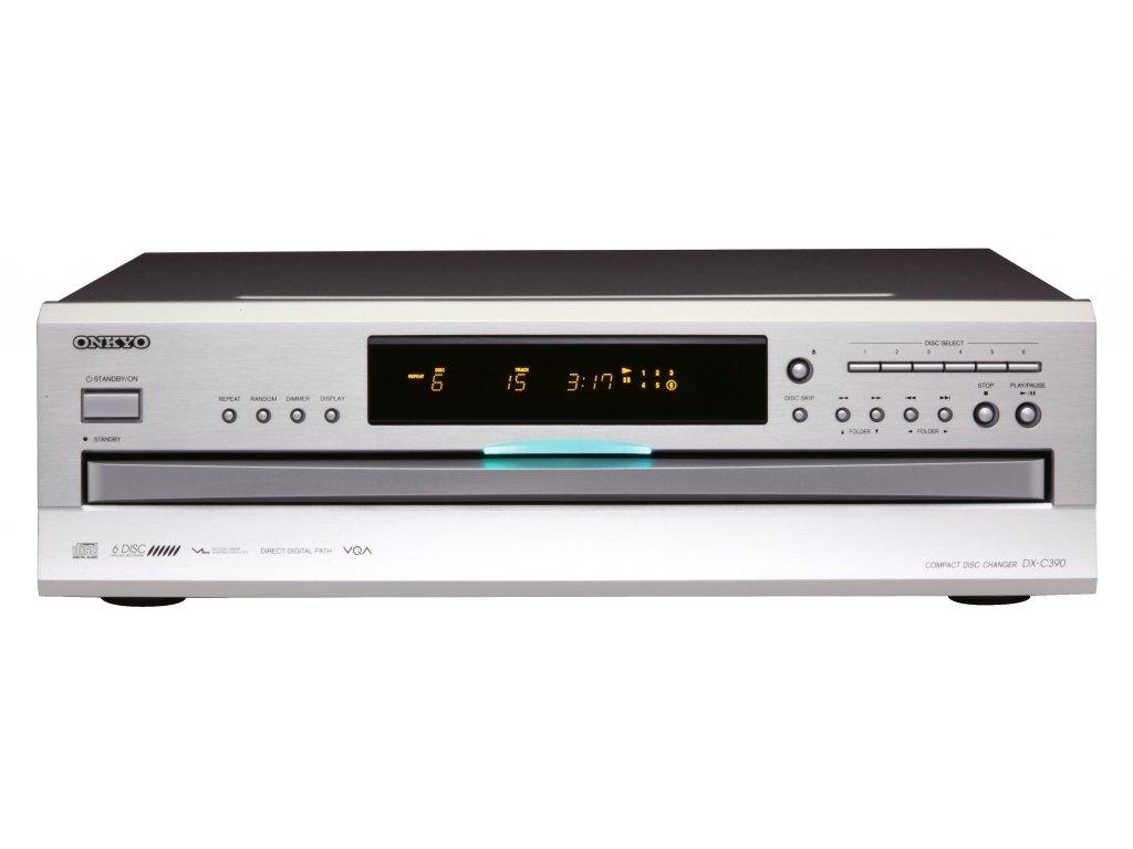 Kvalitní všestranný CD přehrávač s podavačem až na 6 disků Onkyo DX-C390
