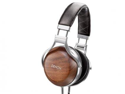 Kvalitní uzavřená stereofonní sluchátka z přírodních materiálů Denon AH-D7200