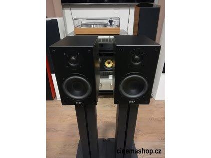 Kvalitní stereofonní 2-pásmové regálové (stojanové) reprosoustavy s basreflexem, výkonem 120 W a impedancí 4 Ohm Elac BS 73