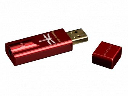 Kvalitní high-end přenosný USB DA převodník pro sluchátka i linkový vstup Audioquest DragonFly Red