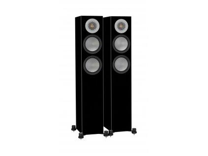 Kvalitní 2,5-pásmové sloupové podlahové reprosoustavy se zadním bassreflexem Monitor Audio Silver 200