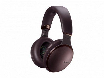 Kvalitní bezdrátová sluchátka s aktivním potlačením zvuku a skvělým přednesem Panasonic RP-HD605NE-T (hnědá)