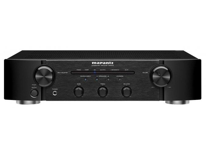 Kvalitní stereofonní integrovaný zesilovač 2x 55 W s gramofonovým vstupem a terminály pro dva páry reprosoustav (A, B, A+B) Marantz PM5004