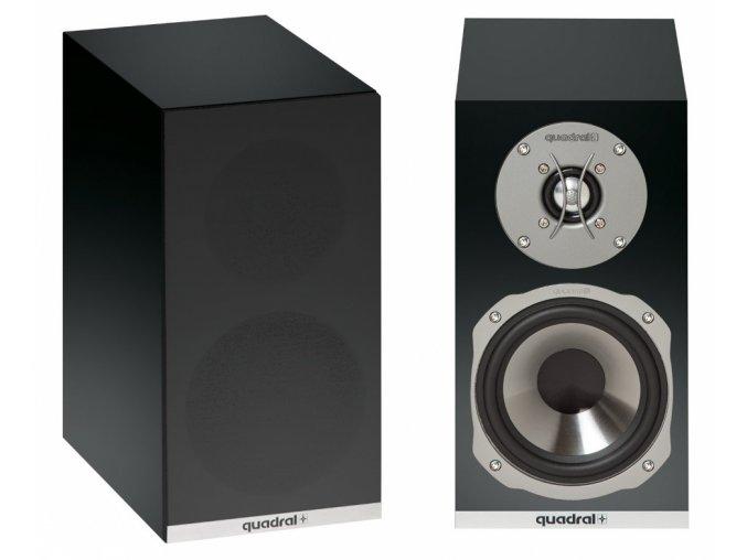 Kvalitní regálové (stojanové) 2-pásmové reprosoustavy s impedancí 4 Ohmu, vysokou citlivostí a mohutným zvukem Quadral RHODIUM 200