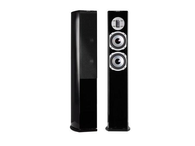 Kvalitní sloupové (podlahové) 2-pásmové reprosoustavy s impedancí 4 Ohmu, vysokou citlivostí a mohutným zvukem Quadral Chromium Style 6