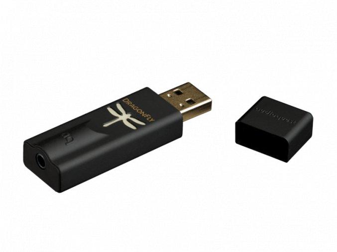 Kvalitní high-end přenosný USB DA převodník pro sluchátka i linkový vstup Audioquest DragonFly Black