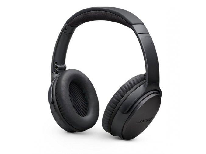 Kvalitní bezdrátová lehká skládací uzavřená sluchátka s aktivním potlačením okolního ruchu Bose Quiet Comfort 35
