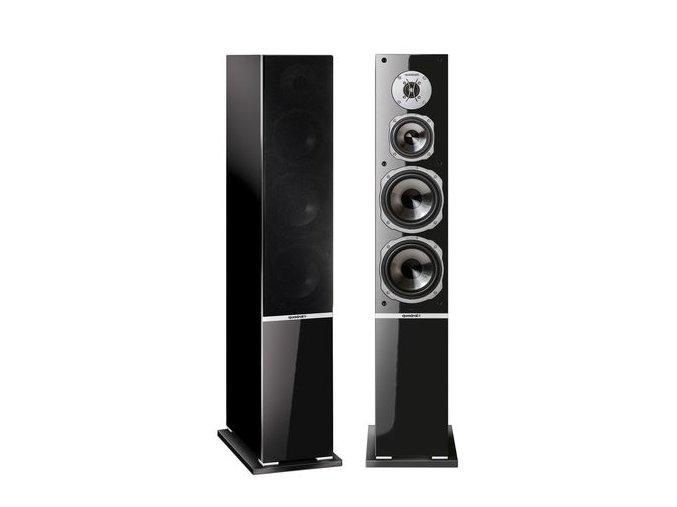 Kvalitní sloupové (podlahové) 3-pásmové reprosoustavy 200W s impedancí 4 Ohmy, vysokou citlivostí a mohutným zvukem Quadral Argentum 590