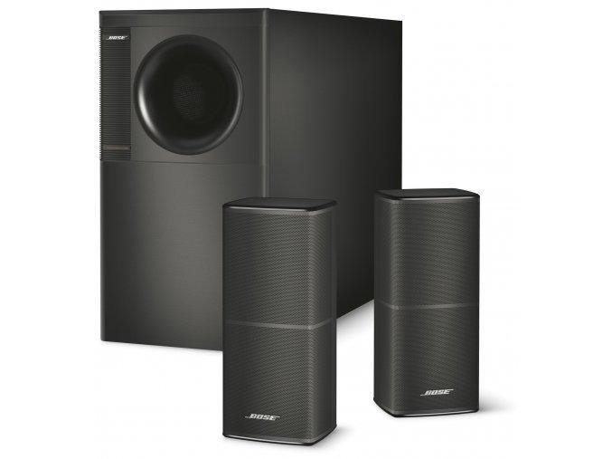 Kvalitní stereofonní hudební systém s basovým modulem (subwooferem) Bose Acoustimass 5 V