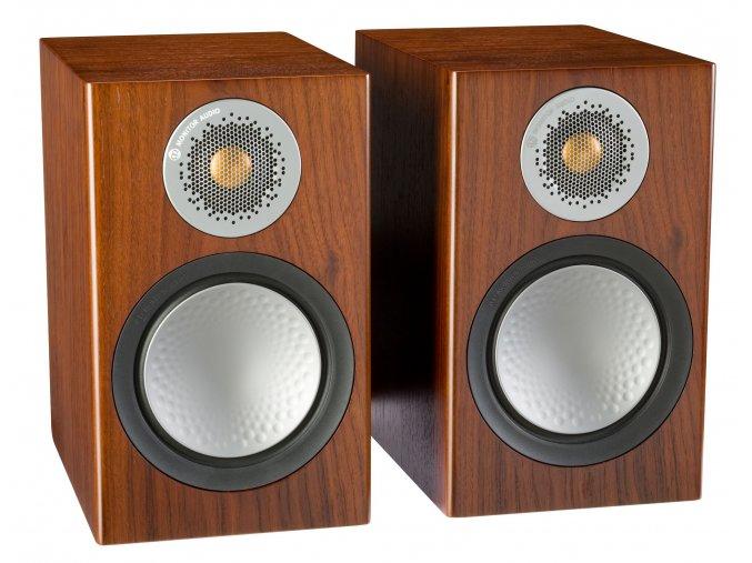 Kvalitní 2-pásmová regálová stojanová reprosoustava se zadním bassreflexem Monitor Audio Silver 50