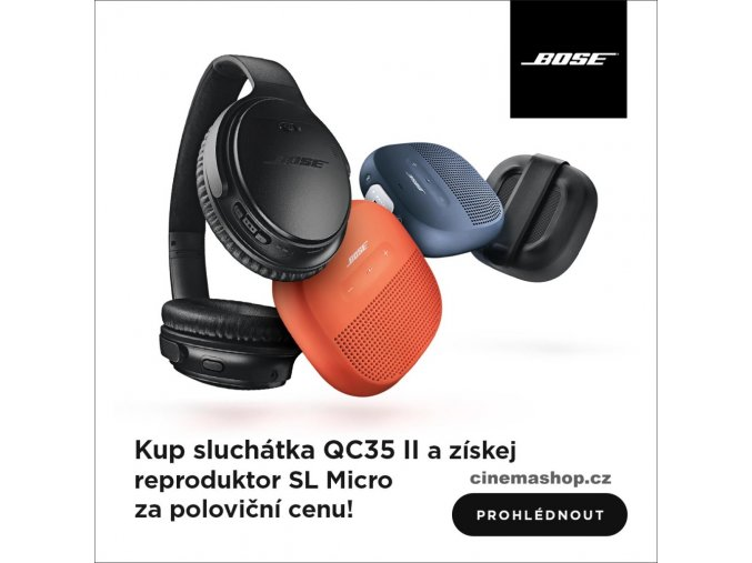 Kvalitní set prémiových Sluchátek Bose QuietComfort 35 II a bezdrátového reproduktoru Bose Soundlink Micro