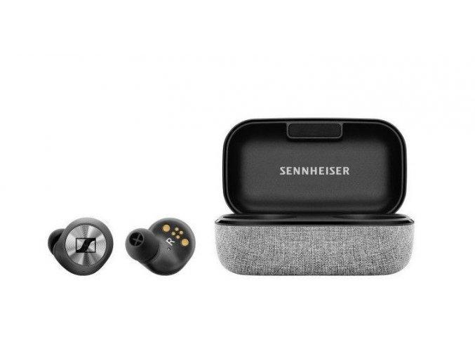 Kvalitní uzavřená intra-aurální dynamická stereo sluchátka Sennheiser Momentum True Wireless