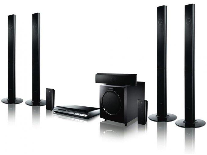 Kvalitní 7.1 systém domácího kina s AV receiverem a Blu-ray mechanikou Samsung HT-BD2