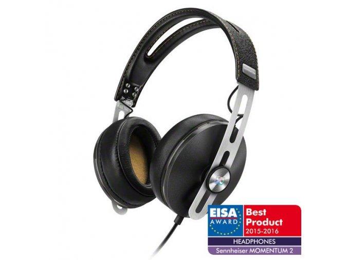 Kvalitní uzavřená supra-aurální dynamická stereo sluchátka Sennheiser Momentum M2 i