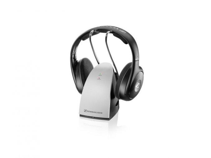 Kvalitní bezdrátová otevřená sluchátka s radiovým přenosem mezi sluchátky a vysílací základnou Sennheiser RS 120II