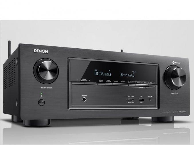 Kvalitní 7.2 kanálový AV přijímač s plným 4K Ultra HD s výkonem 150W na kanál Denon AVR-X2400H
