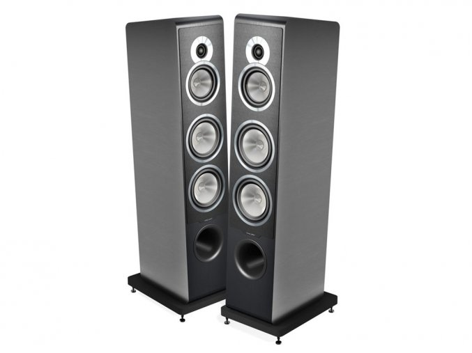 Kvalitní sloupové (podlahové) 3- pásmové reprosoustavy pro zesilovače 40- 250 W s impedancí 4 Ohmy, vysokou citlivostí a malebným a přesným zvukem Sonus Faber Principia 7
