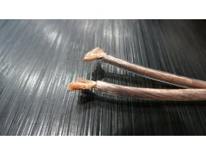 Kvalitní transparentní reproduktorový kabel Real Cable PRO10 4 evolution 2x4 mm