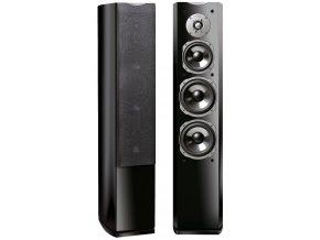 Kvalitní sloupové (podlahové) 3-pásmové reprosoustavy s impedancí 4 Ohmu, vysokou citlivostí a mohutným zvukem Quadral Ascent 80 LE