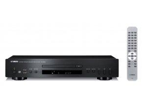 Kvalitní CD přehrávač, CD-DA, CD-R, CD-RW, MP3, WMA, USB, podpora MP3, WMA a Pure direct YAMAHA CD-S300