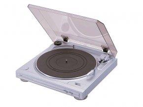 Kvalitní dvourychlostní, řemínkový a plně automatický gramofon s vestavěným předzesilovačem Denon DP-29F