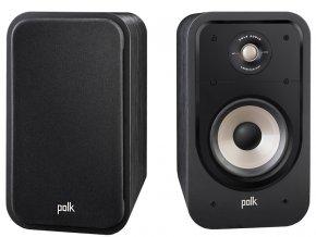 Kvalitní 2-pásmová regálová reprosoustava s basreflexem Polk Audio Signature S20E