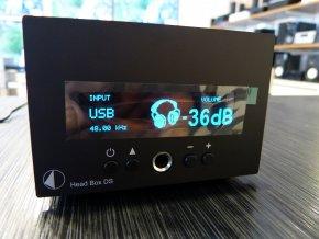 Kvalitní sluchátkový zesilovač Pro-Ject Head Box DS Black