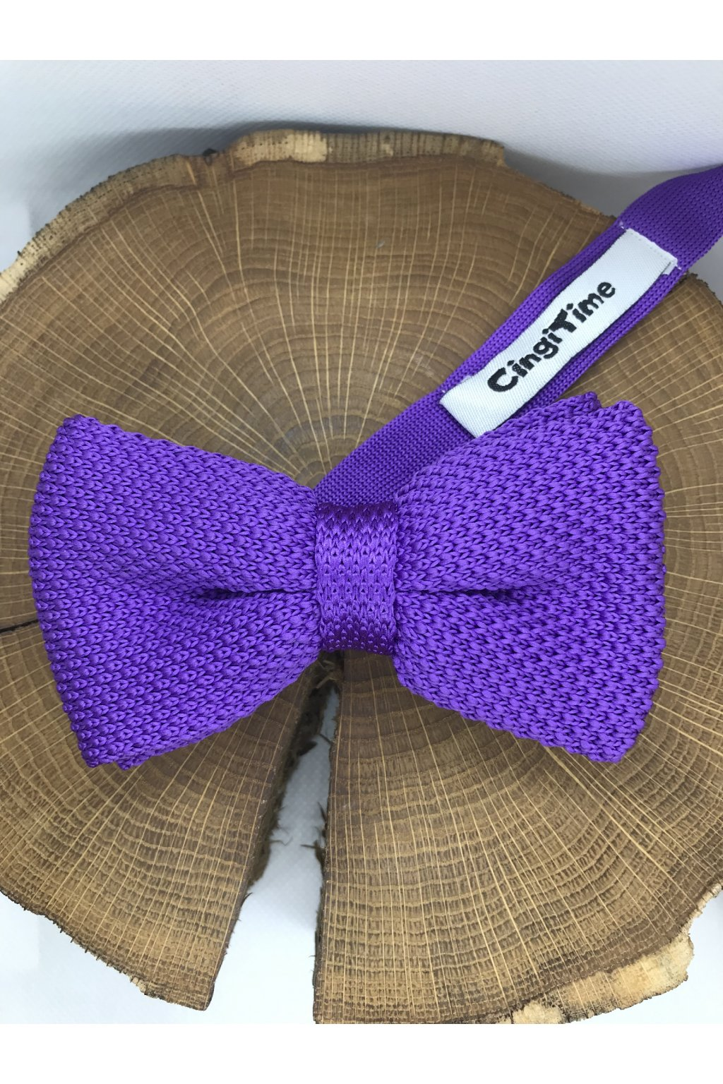 Pánsky fialový bavlnený motýlik