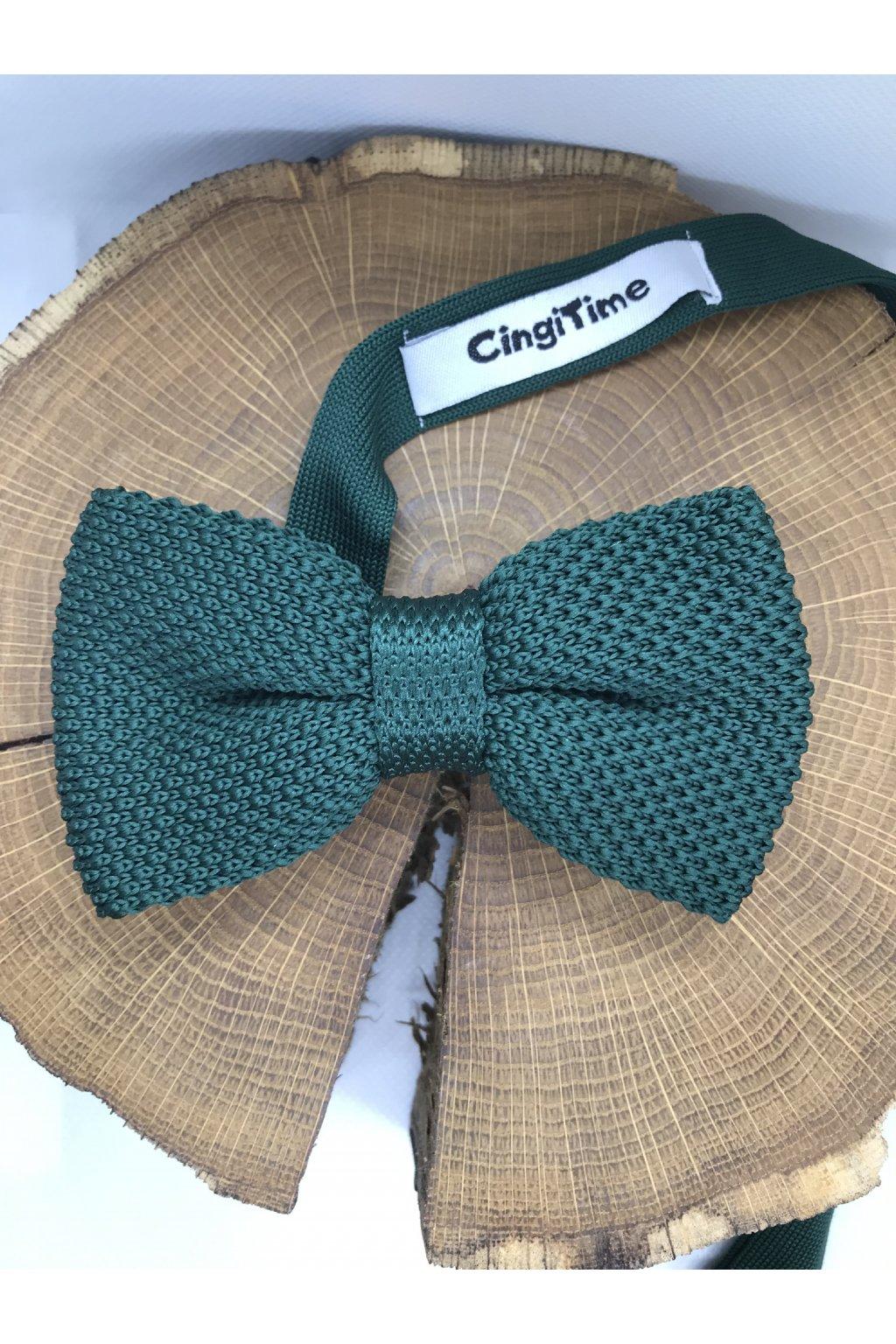 Pánsky zelený bavlnený motýlik