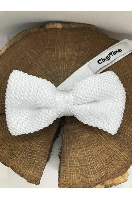 Pánsky biely bavlnený motýlik