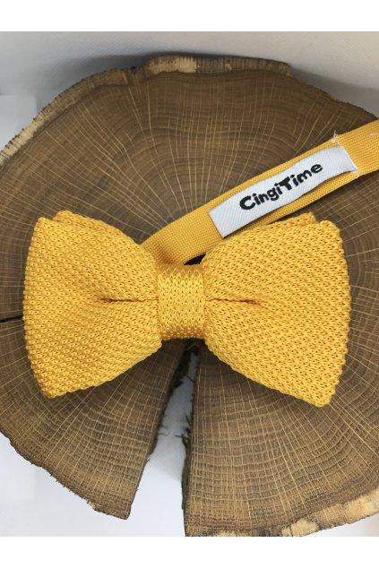 Pánsky žltý bavlnený motýlik