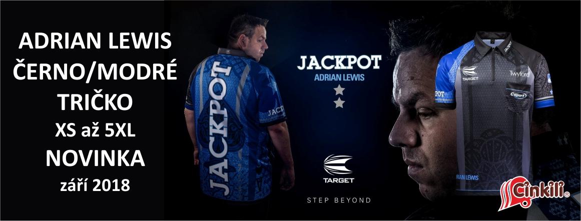 Tričko Coolplay Adrian Lewis černo modré
