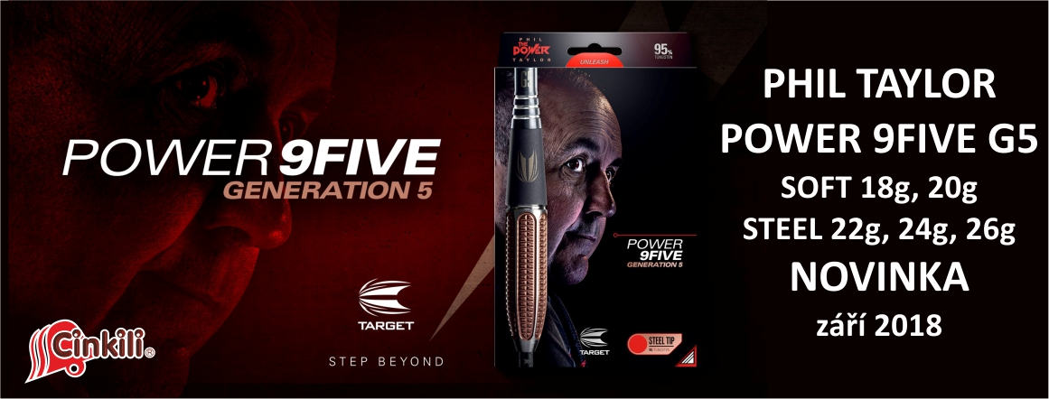 Šipky POWER 9FIVE G5 Phil Taylor