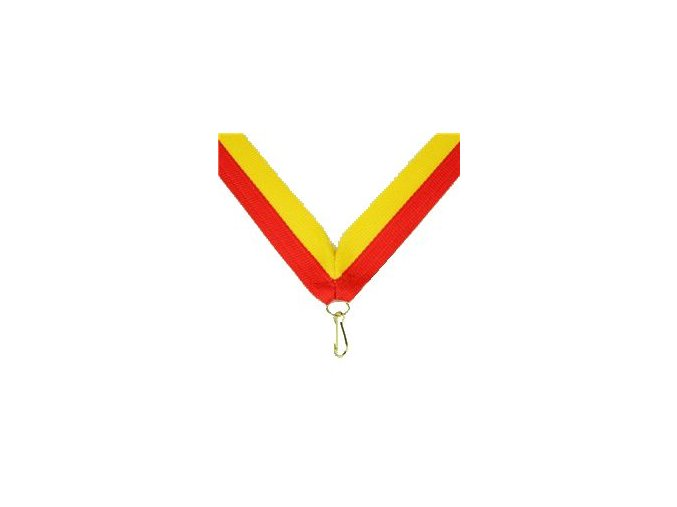 Stuha Červeno-žlutá V 2cm