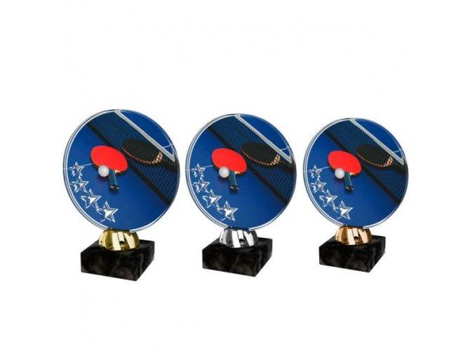 Akrylátová trofej CACL2103M16 Stolní tenis
