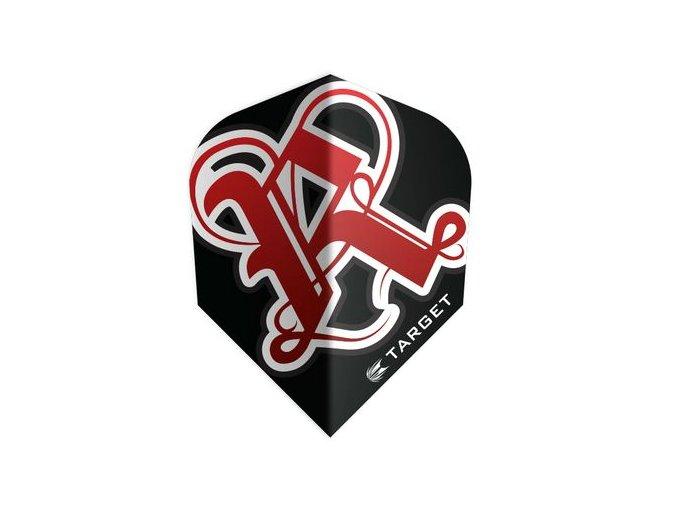 Letky PRO 100 VISION standard Rebel black/red
