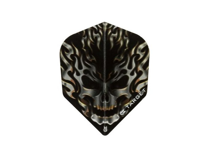 Letky VISION standard  black/grey flaming skull