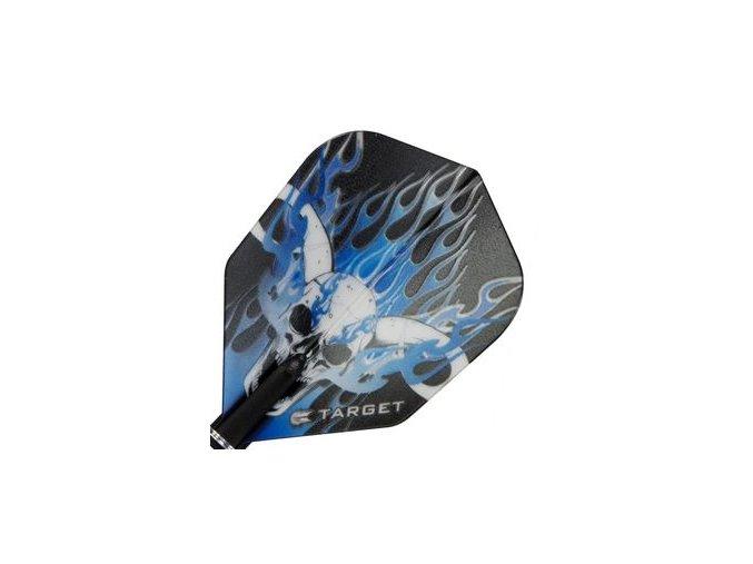 Letky PRO 100 VISION standard black/blue skull NO6
