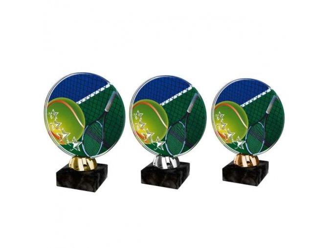 Akrylátová trofej CACL2103M14 Tenis